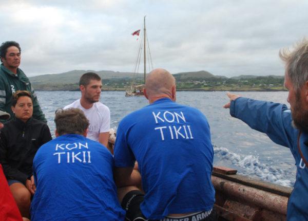 """Международная экспедиция """"Кон-Тики2"""" на острове Пасхи."""